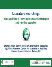 EQUATOR-Literature-Searching-Shona-Kirtley