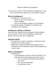 Cognitive Abilities
