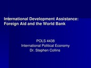 Week 11 - Intl Dev Assistance & World Bank