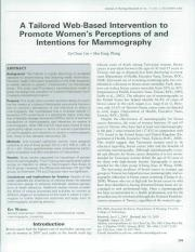 A Tailored Web-Based Intervention to Promote Women's Perceptions of and Intention For Mammography.pd