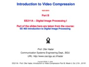 EE211A - Indroduction to Video Compression_Part_B
