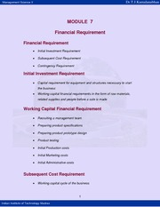 Financial Requirement