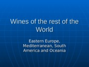 15. Wines of the rest of the World