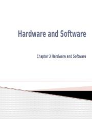 Hardware and Software, and Cross-Functional Information Systems