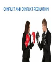 CONFILCT AND CONFLICT RESOLUTION.pptx