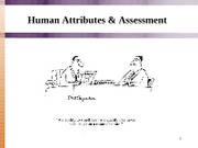 Human Attributes & Assessment