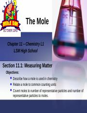 The Mole-Ch 11-Chem L1 new.ppt
