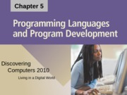 Chapter 05 Programming Languages