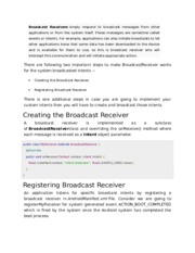 9.Android - Broadcast Receivers