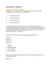 Home Work 16 Solutions