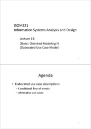 ISOM221+Lecture+13+-+Object-Oriented+Modeling+III+_Elaborated+Use+Case+Model_
