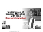MKT 3304 Chap 1 Marketing Services & INTRO F15 - S