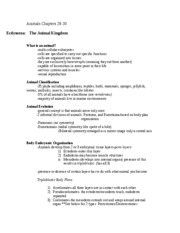 Animals Chapters 27, 28, 29[1]