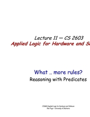 Lecture11ReasoningWithPredicates