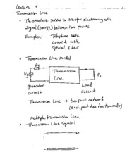 EE101 Transmission Line Notes
