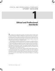 CH1READ-Ethical and Professional Standards