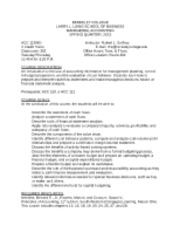 ACC. 113-MANAGERIAL ACCOUNTING-SYLLABUS-SPRING-2013 - Copy