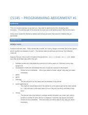 Programming Assignment 1 - CS145