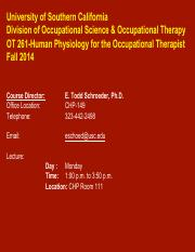 Lecture 1 Intro to physiology Fall 2014