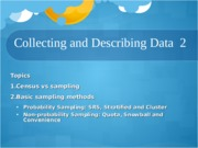 Collecting and Describing Data 2