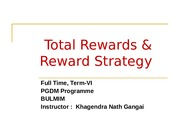 Session #3&4 Total Reward & Reward Startegy