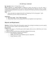 CIS 304 : INTERMEDIATE JAVA PROGRAMMING - Cal Poly - Course Hero