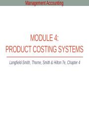 Module 4 - Product costing