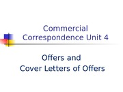 CC Unit 4, Cover Letters of Offers