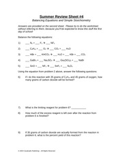 Worksheets Chemfiesta Balancing Equations Worksheet types of reactions worksheet 1 3 nabr h po 4 na 2 pages balancing equations and simple stoichiometry