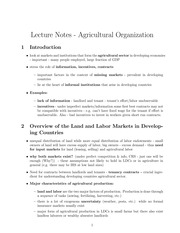 AGRICULTURAL CONTRACTS