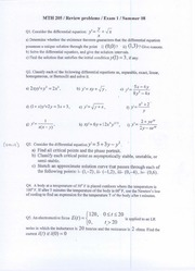 MTH 205-Practice problems for Test I-Summer 09