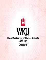 Lecture 9-S Visual Evaluation of Market Animals -