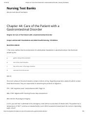 Chapter 44_ Care of the Patient with a Gastrointestinal Disorder _ Nursing Test Banks.pdf