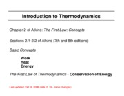 1 Intro to Thermodynamics