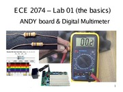 ECE 2074 Lab 01 Multimeter and Andy Board Notes