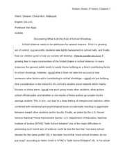 model of good rough draft 5 for english