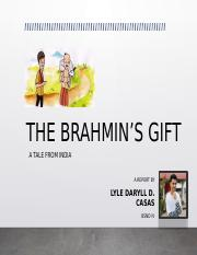 THE BRAHMIN'S GIFT - Report in LIT .pptx