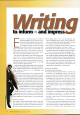 #5) Writing to Inform and Impress