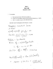 ST472 F10 Quiz 1 Solution