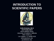 Intro to Scientific Papers (Final 9-17-09, post)