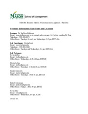 Fall 2011 Syllabus for ALL lectures-labs