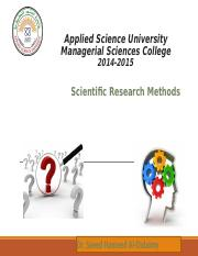 Scientific Research Methods Ch6