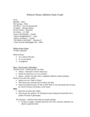 Political Theory Midterm Study Guide