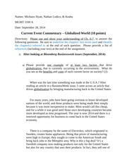 Current Event Commentary - Global (1)