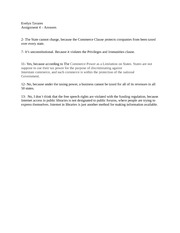 Chapter 4 Assignment Answers