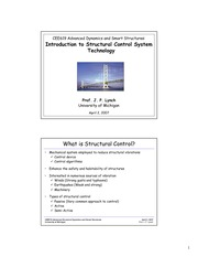 Class #16 - Introduction to Structural Control