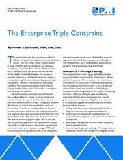 The Enterprise Triple Constraint - PMI Knowledge Shelf