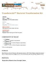 TransformAid Manual