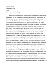 French and Indian War Essay.docx