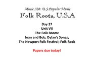 Dylan, Songs, and the Newport Festivals
